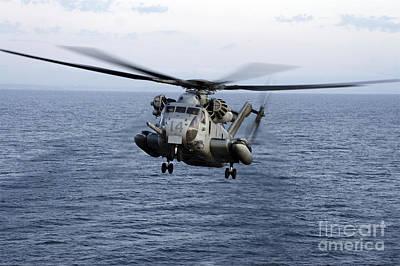 An Mh-53e Sea Dragon In Flight Poster