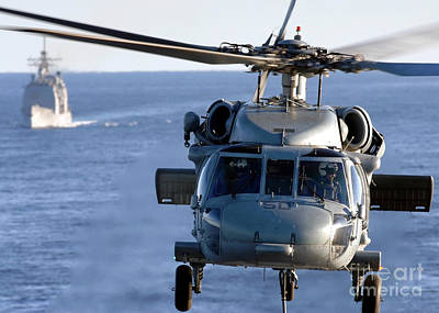 An Mh-60s Seahawk Helps Conduct Poster by Stocktrek Images