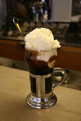 An Old-fashioned Ice Cream Soda Awaits Poster