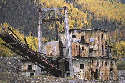 An Old Gold Dredge Poster by Michael Melford