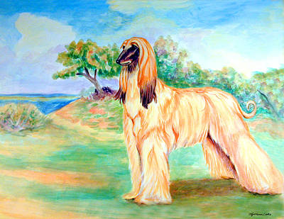 Anastazi Sun - Afghan Hound Poster