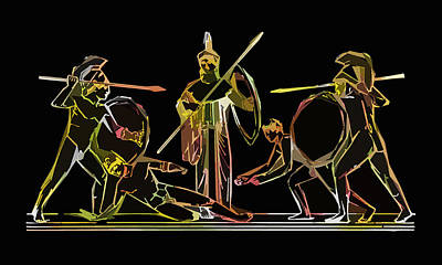 Ancient Greek Soldiers Poster by James Hill