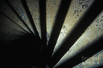 Ancient Stone Spiral Staircase Poster by Will & Deni McIntyre