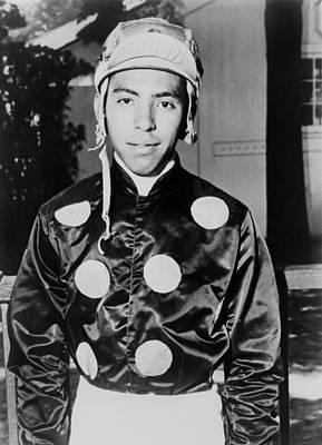 Angel Cordero Dressed In Racing Silks Poster by Everett
