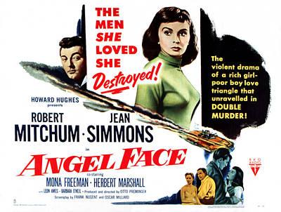 Angel Face, Robert Mitchum, Jean Poster by Everett