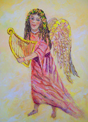 Poster featuring the painting Angel by Lou Ann Bagnall