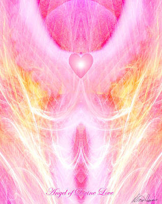 Angel Of Divine Love Poster by Diana Haronis