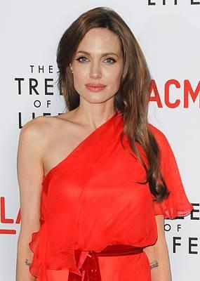 Angelina Jolie Wearing A Jenny Packham Poster