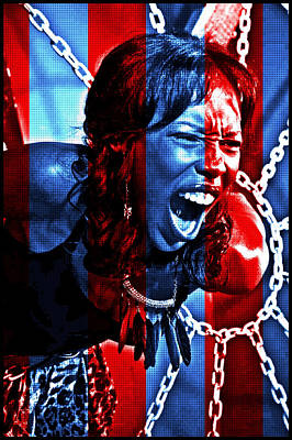 Poster featuring the photograph Anger In Red And Blue by Alice Gipson