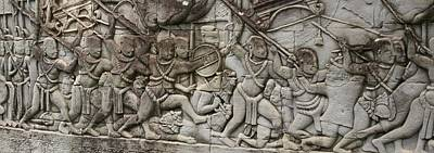 Poster featuring the photograph Angkor Wat - War Scene by Andrei Fried