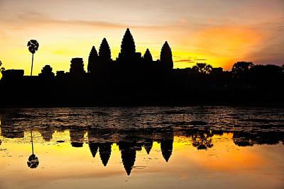 Angkor Wat At Sunrise Poster