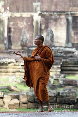 Poster featuring the photograph Angkor Wat Monk by Nola Lee Kelsey