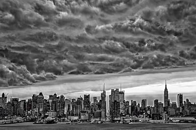 Angry Skies Over Nyc Poster