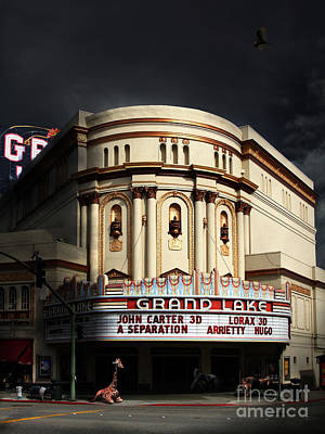Animal Night At The Grand Lake Theatre . 7d13481 Poster by Wingsdomain Art and Photography