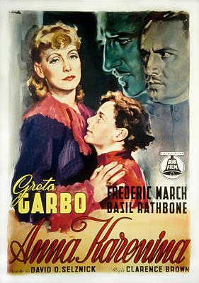 Anna Karenina, Poster Art, Greta Garbo Poster by Everett