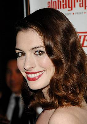 Anne Hathaway At Arrivals For 55th Poster by Everett