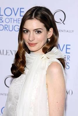 Anne Hathaway At Arrivals For Love And Poster by Everett