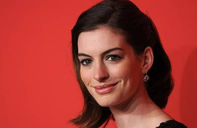 Anne Hathaway At Arrivals For The Poster by Everett