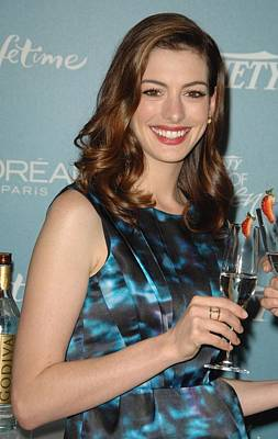 Anne Hathaway At Arrivals For Varietys Poster by Everett