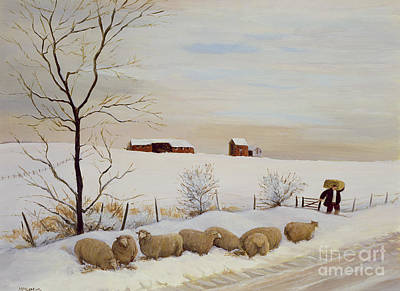 Another Hard Winter Poster by Margaret Loxton