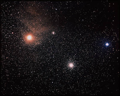 Antares & Starfield Poster