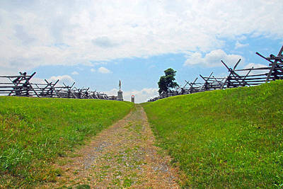 Poster featuring the photograph Antietam Battle Of Bloody Lane by Cindy Manero