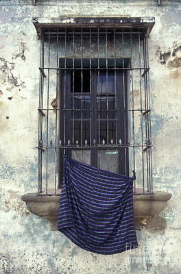 Poster featuring the photograph Antigua Window Guatemala by John  Mitchell