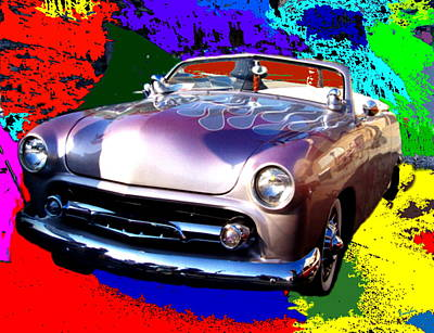 Antique Car  Poster by Rom Galicia