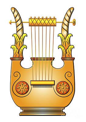 antique Greek lyra Poster