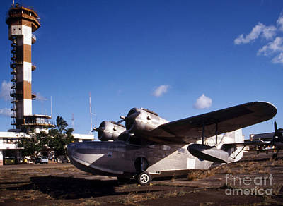 Antique Navy Seaplane Parked In Front Poster by Michael Wood