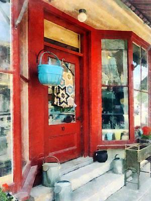 Antique Shop Waterbury Vt Poster by Susan Savad