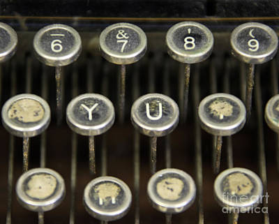 Antique Typewriter Buttons Poster