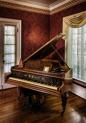 Antique Wein Grand Piano Poster