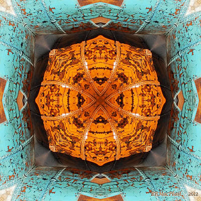 Poster featuring the photograph Antique Wood Baskets Kaleidoscope by Barbara MacPhail