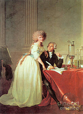 Antoine-laurent Lavoisier And His Wife Poster by Science Source