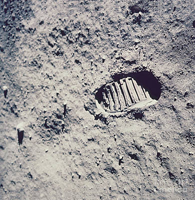 Apollo 11 Footprint Poster