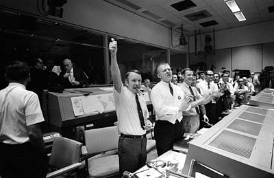 Apollo 13 Flight Directors Applaud Poster by Everett