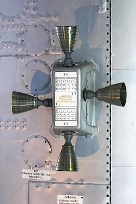 Apollo Service Module Thruster Quad Poster by Mark Williamson