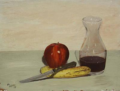 Apple And Banana Poster