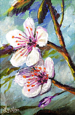 Poster featuring the painting Apple Blossoms by Lou Ann Bagnall