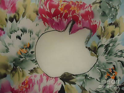 Poster featuring the painting Apple by Dongling Sun