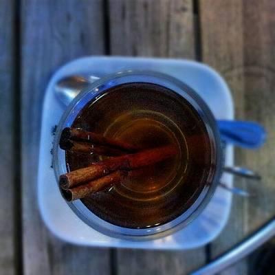 #apple #juice #tea #coffee #cinamon Poster by Abdelrahman Alawwad