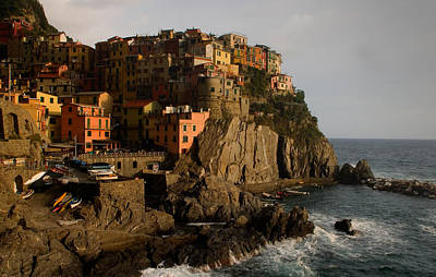 Approaching Storm  Manarola  Italy Poster by Cliff Wassmann