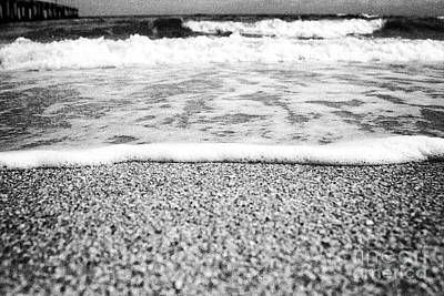 Approaching Wave - Black And White Poster by Hideaki Sakurai