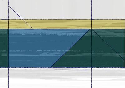Aqua Green Triangles Poster by Naxart Studio