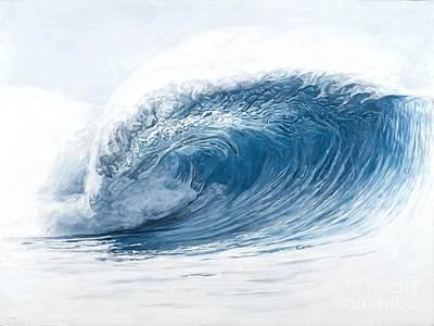 Aqua Marine Poster by Carina Mascarelli