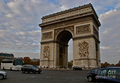 Poster featuring the photograph Arc De Triomphe by Eric Tressler
