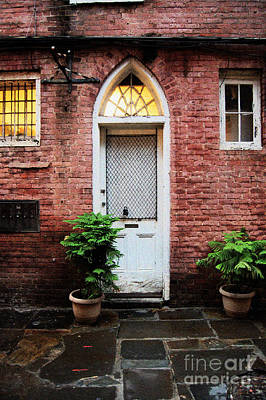 Arched Doorway French Quarter New Orleans Film Grain Digital Art Poster