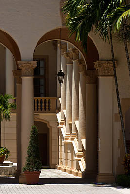 Poster featuring the photograph Arches And Columns At The Biltmore Hotel by Ed Gleichman