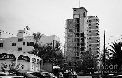 Area Surrounding Varosha Forbidden Zone With Salaminia Tower Hotel Abandoned In 1974 Poster